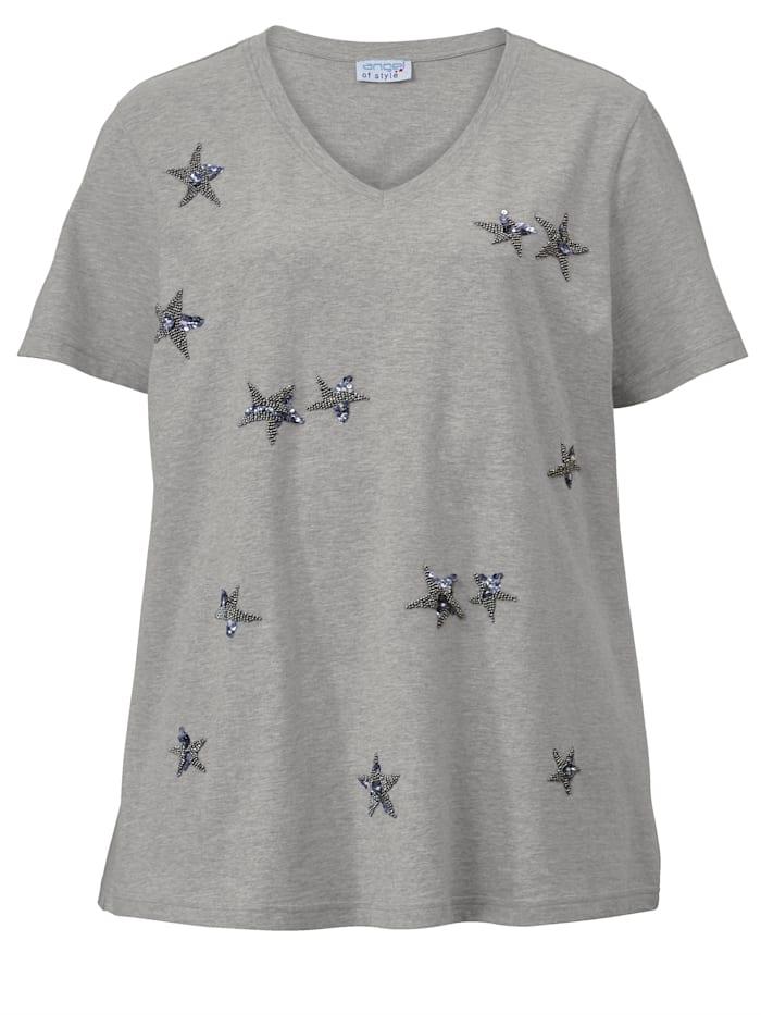Shirt met kraaltjesapplicatie