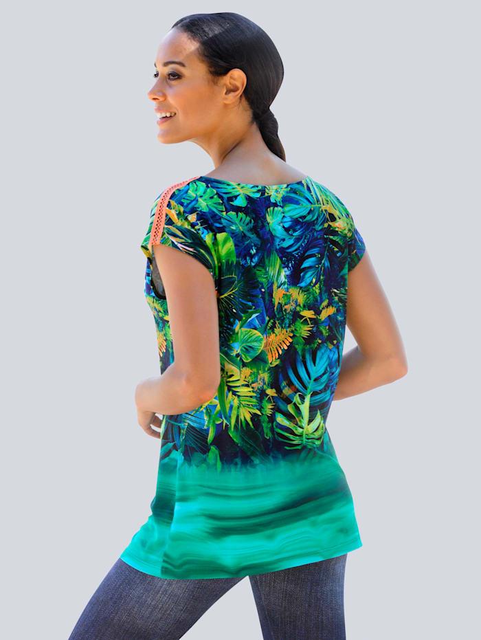 Shirt met kleurverloop