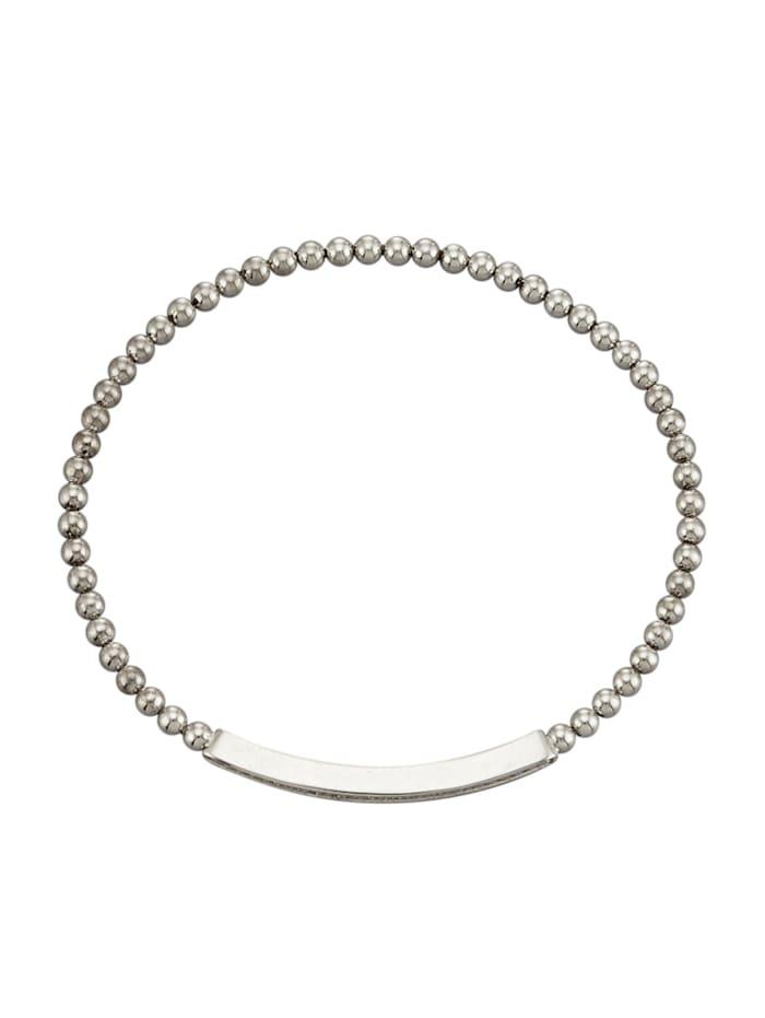 Bracelet avec brillants, Coloris argent