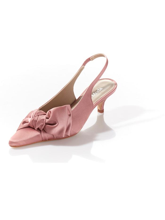 Alba Moda Kitten-Heel aus Satin, Rosé