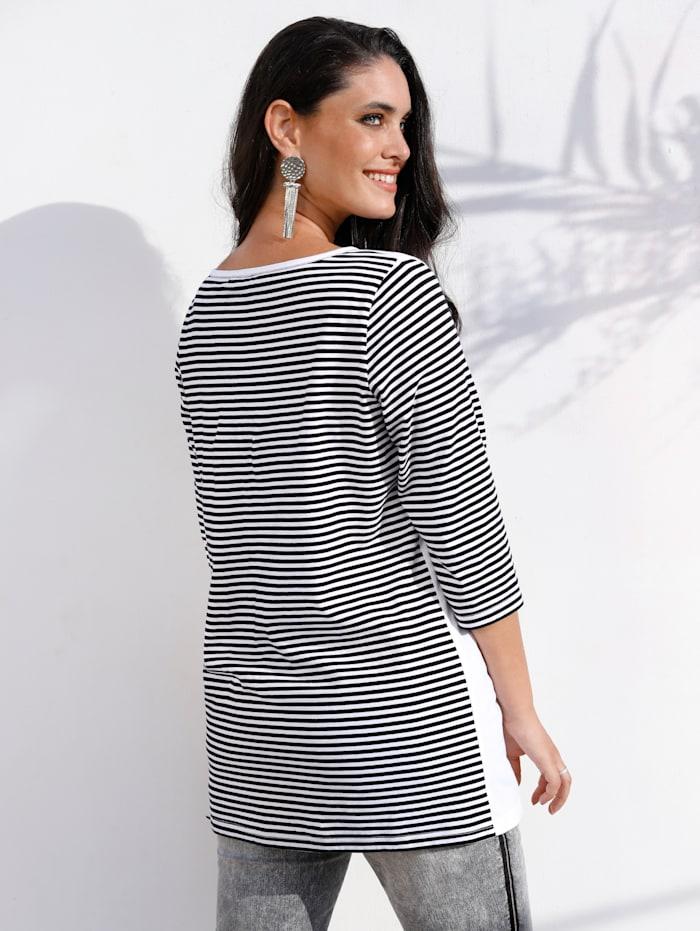 MIAMODA Shirt met trendy print, Zwart