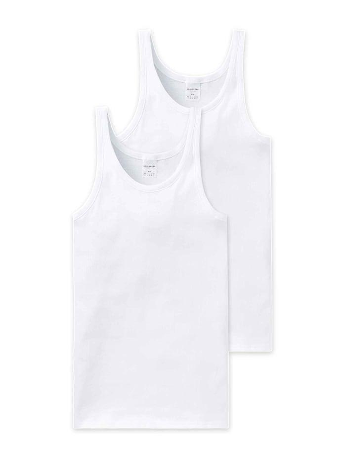 Schiesser Achselshirt Doppelpack, Weiß