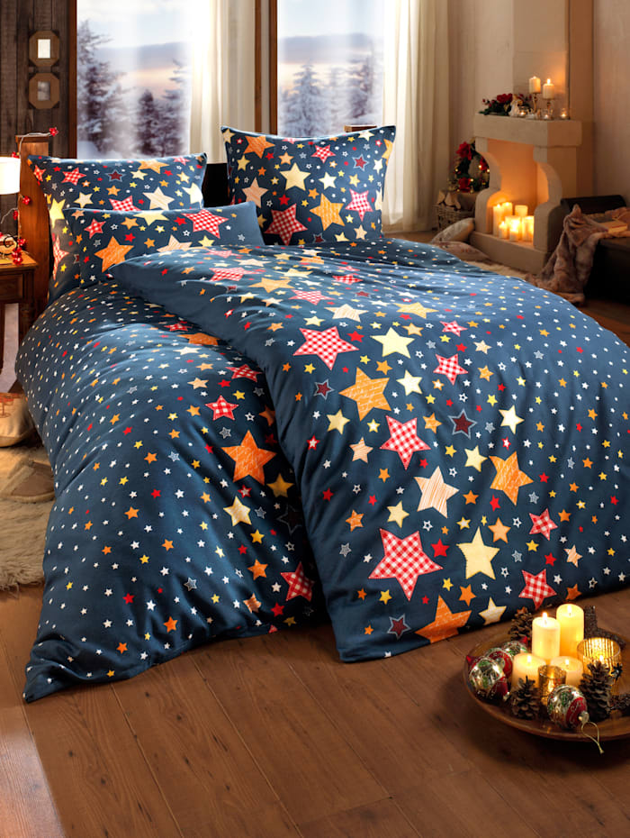 Parure de lit 2 pièces en flanelle Étoiles