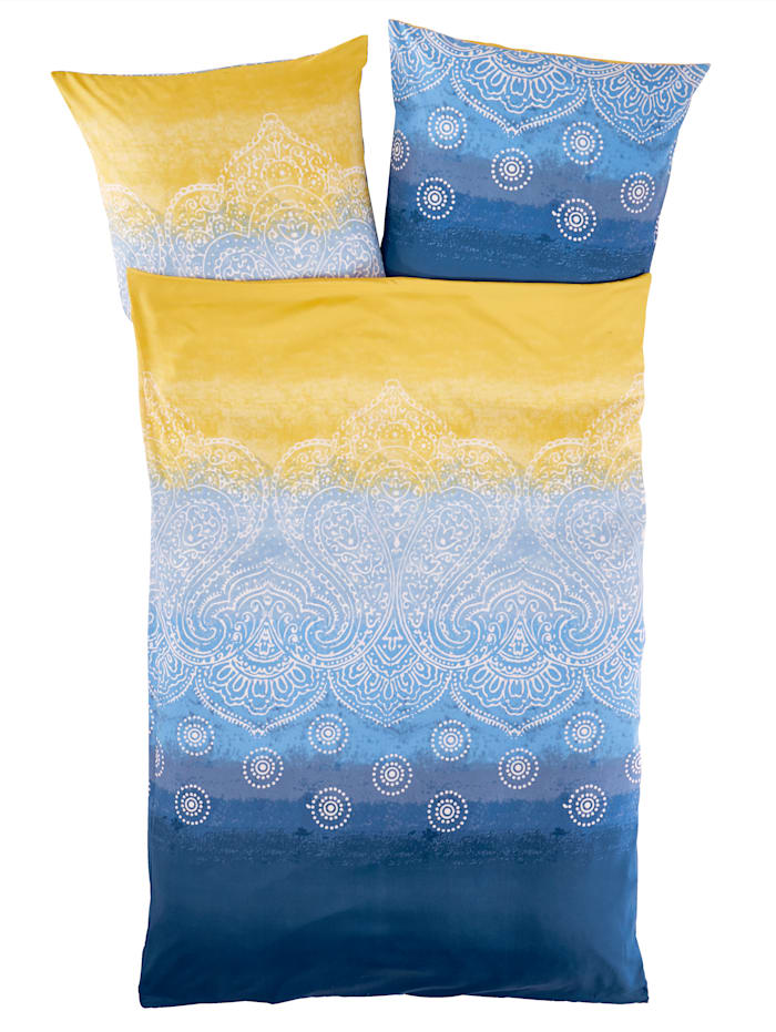 Casamaxx Sengesett i 2 deler -Lena-, blå/gul