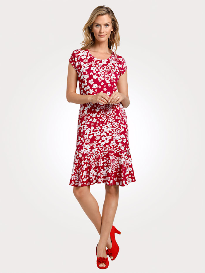 MONA Jersey dress, Red