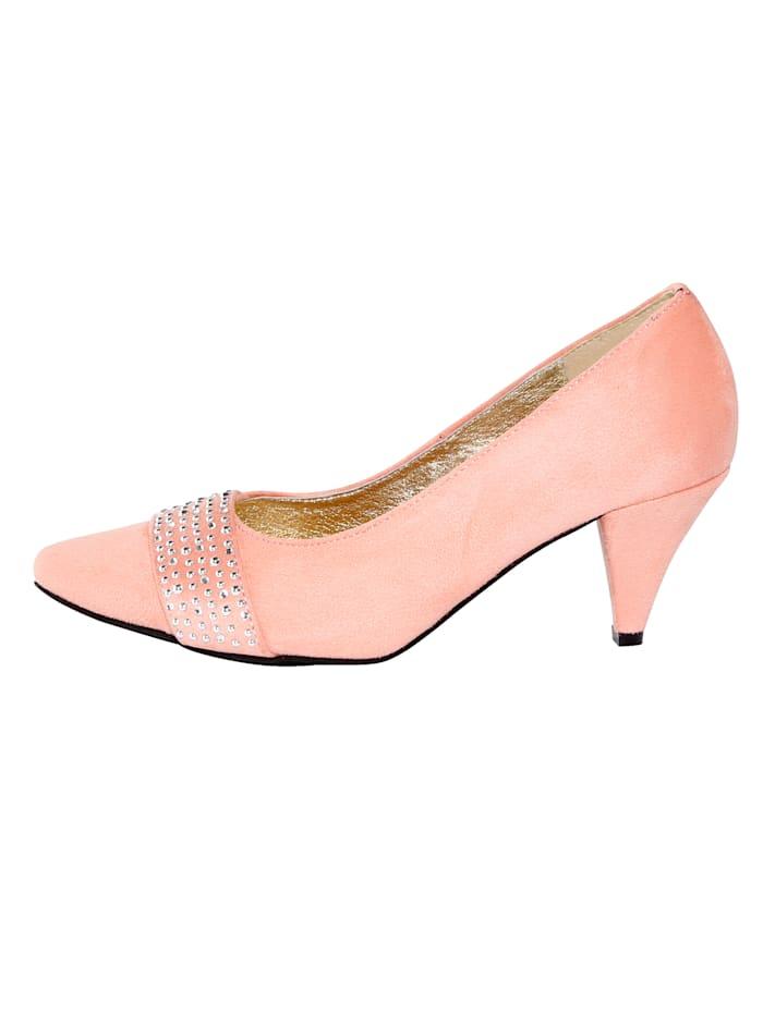 Court Shoes with glamorous rhinestones