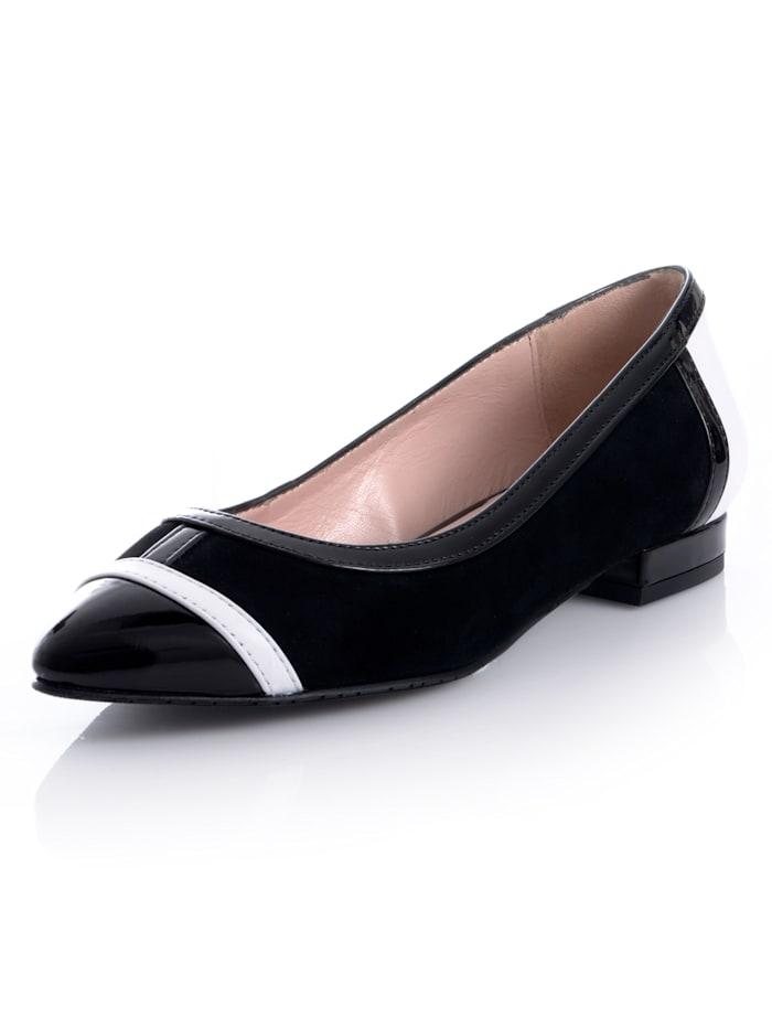 Alba Moda Ballerina in klassiek zwart-wit, Zwart/Wit
