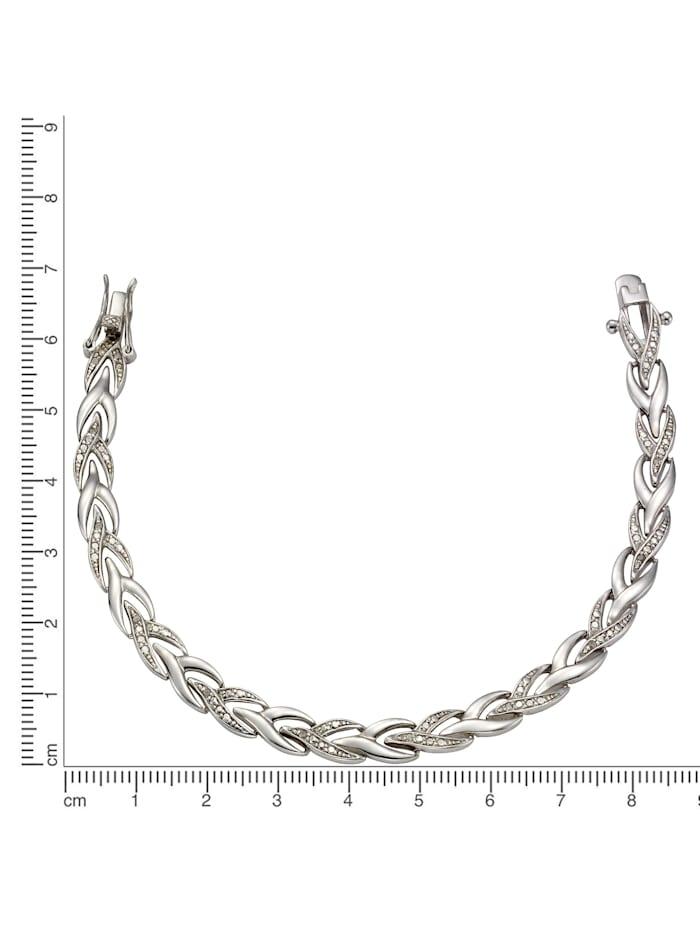 Armschmuck 925/- Sterling Silber Diamant Diamant 19 Glänzend 0,13