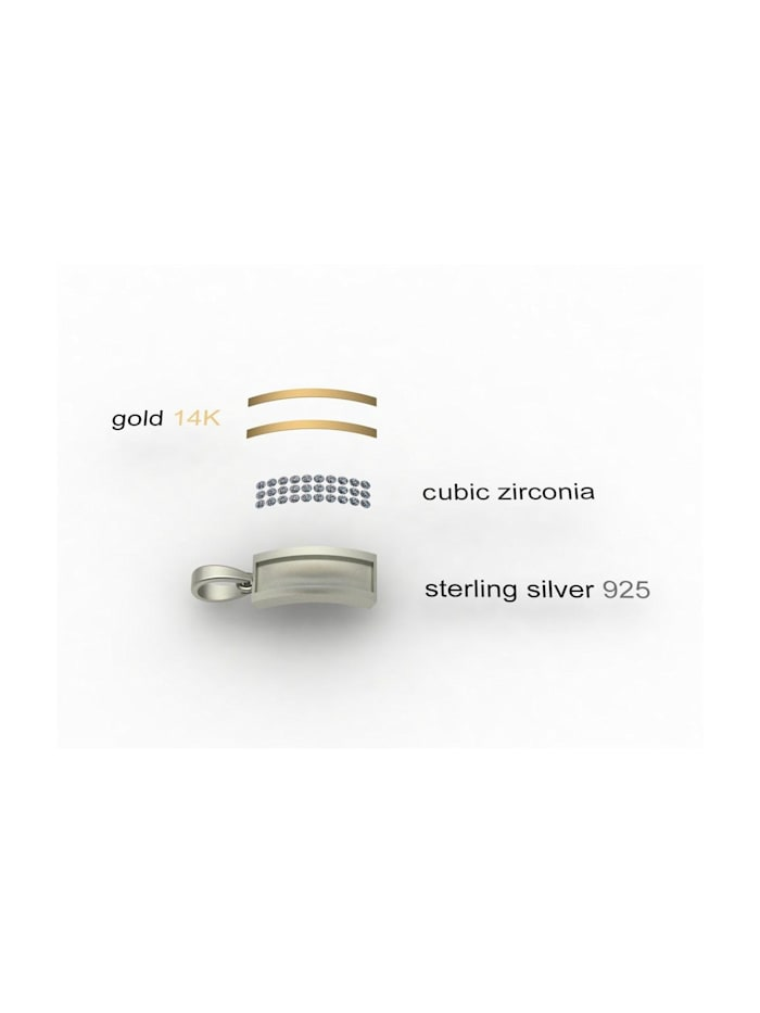 Anhänger - Sunny Exklusiv - Silber 925/000 & Gold 585/000 - Swarowski-Kristall
