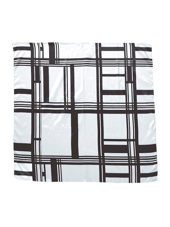 Alba Moda Tuch mit grafischem Muster, Weiß/Schwarz