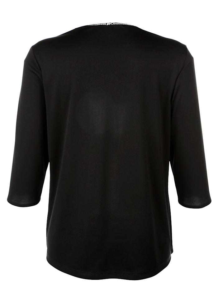 2-in-1-shirt met blouse-inzet