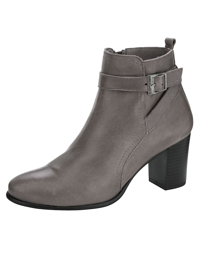 Ankle boots Made from super soft nappa leather, Grey