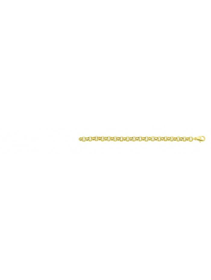 1001 Diamonds Damen Goldschmuck 585 Gold Erbs Armband 19 cm Ø 5,2 mm, gold