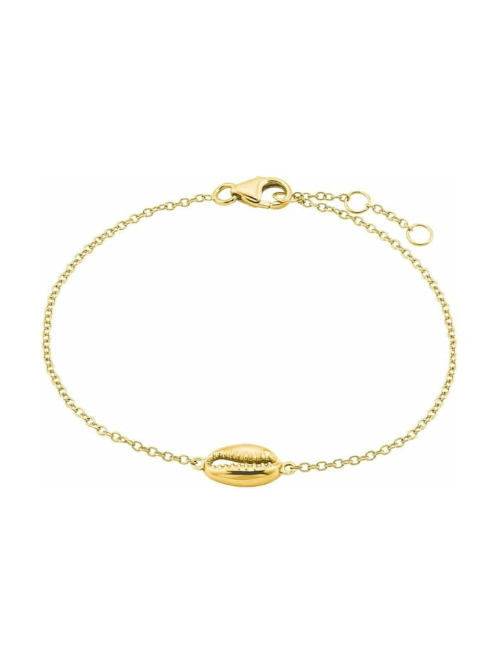 amor Armband für Damen, Sterling Silber 925, Muschel, Gold