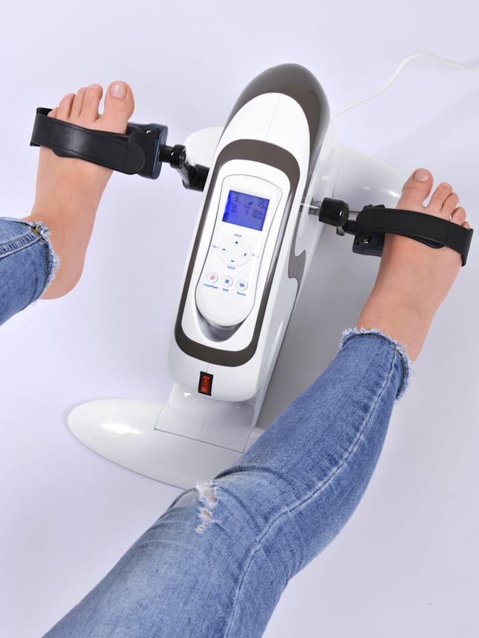 Träningsredskap med pedaler som har inställbar intensitet och digital display