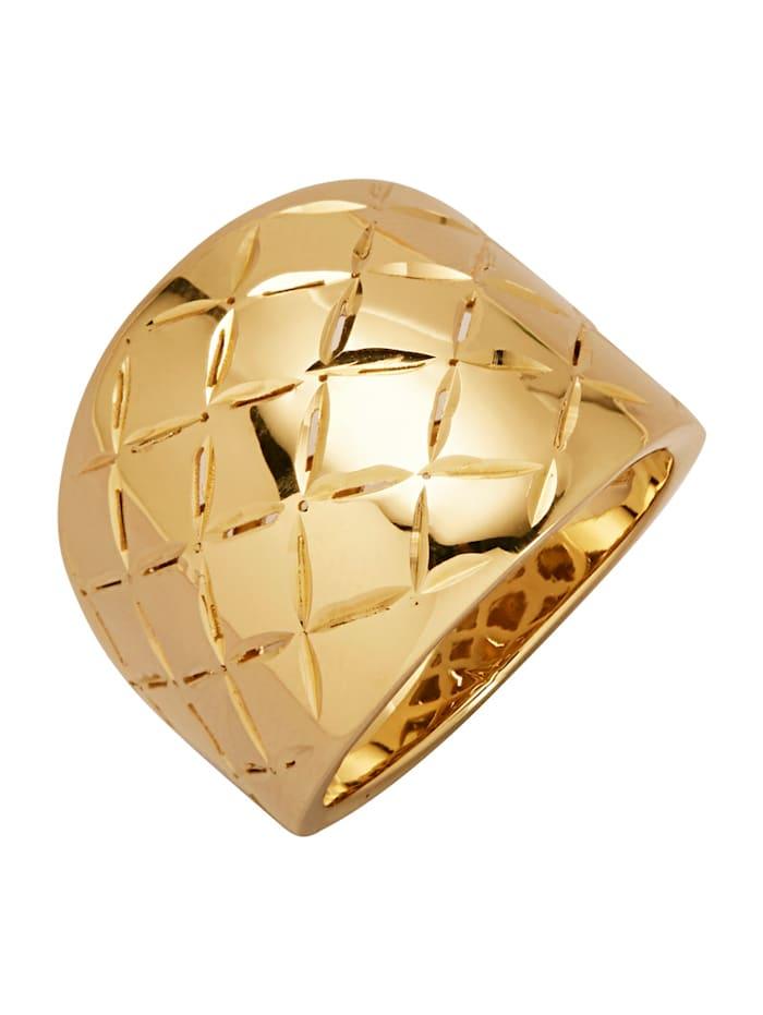Diemer Gold Damesring, Geelgoudkleur