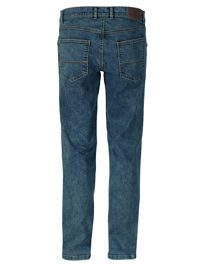 Jeans met moonwashed effecten