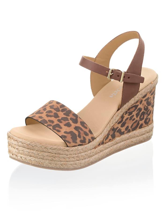 Alba Moda Sandaaltje van geitenleer, Bruin