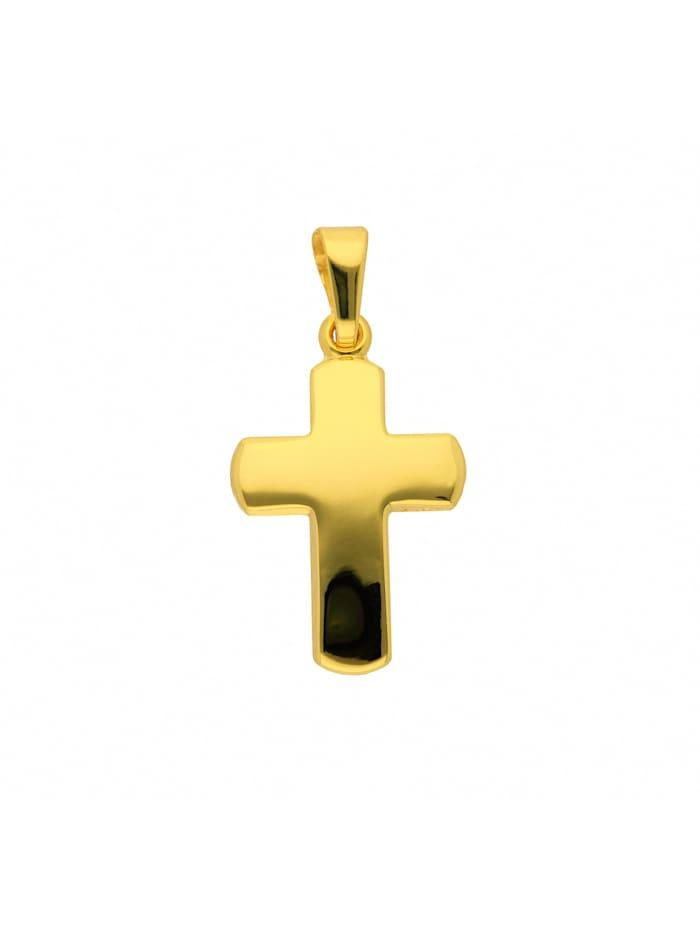 1001 Diamonds Damen & Herren Goldschmuck 585 Gold Kreuz Anhänger, gold