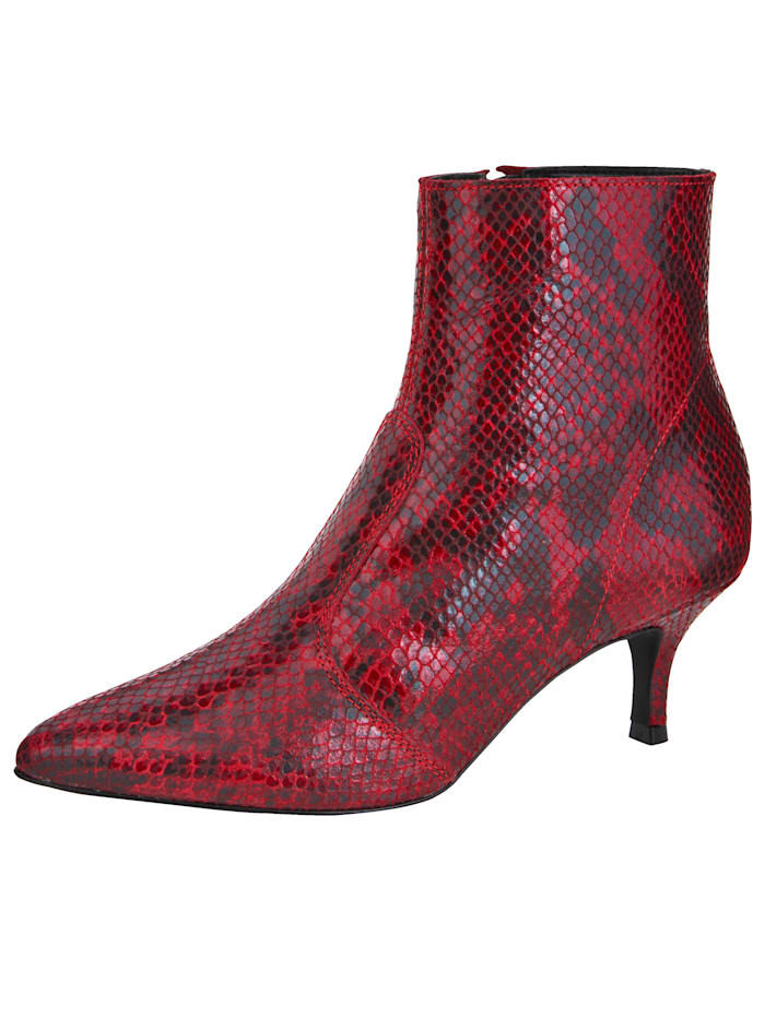 Ankle Boots in an elegant snakeskin look