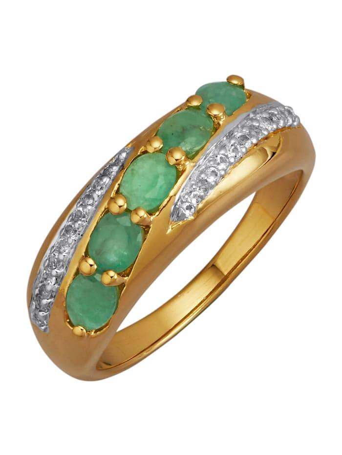 Damenring mit Smaragden, Grün