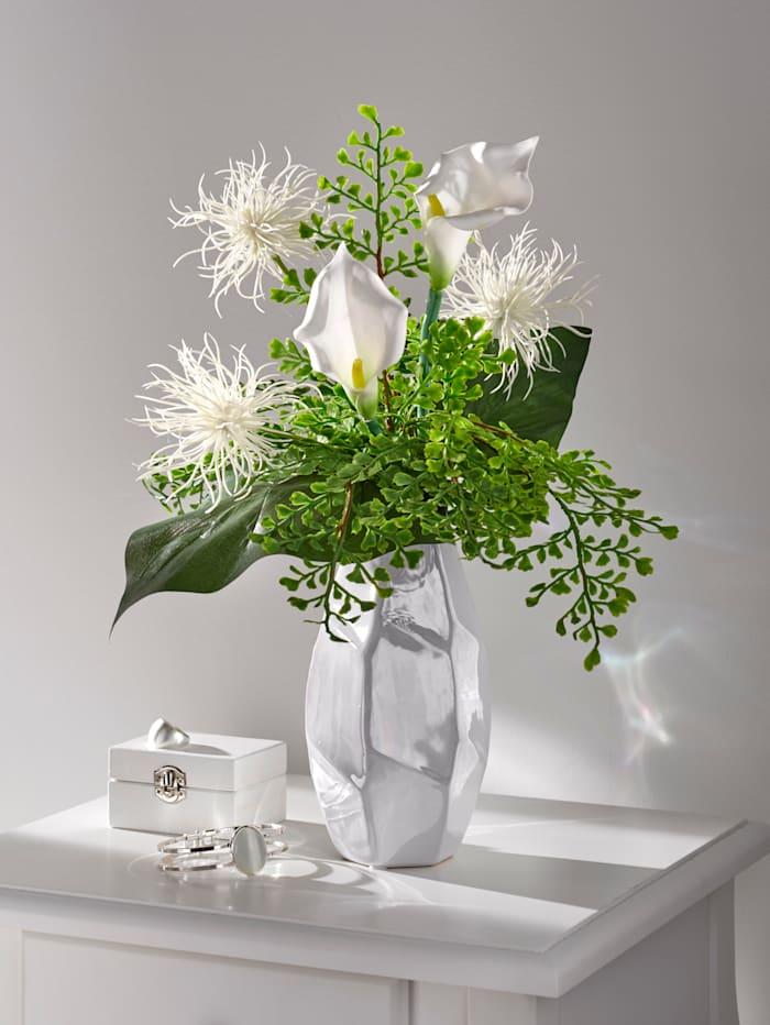 Blumen - Arrangement, weiß/grün