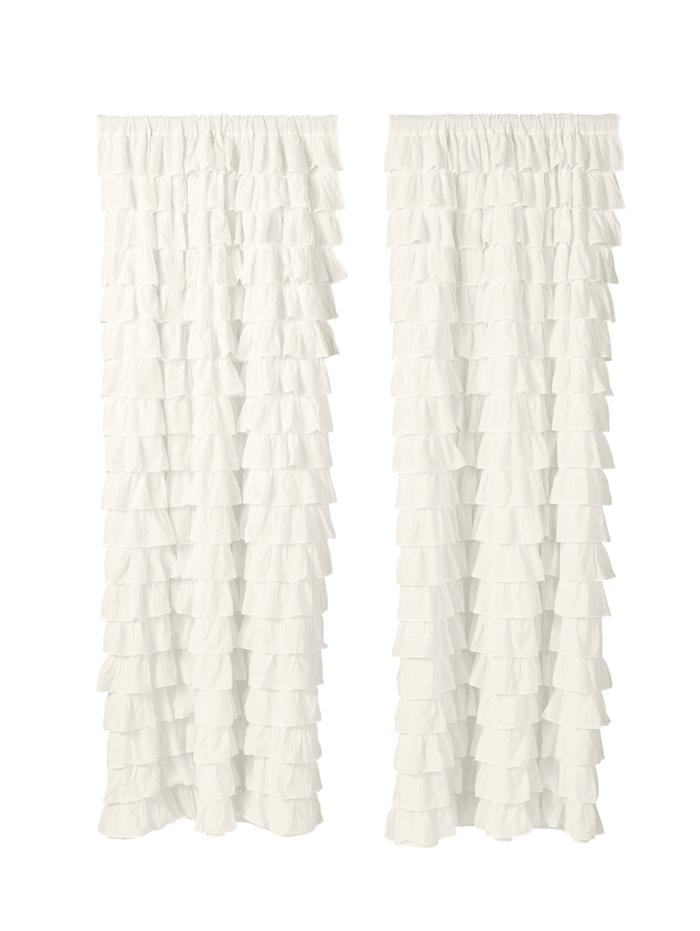 MARAVILLA Vorhang-Set, 2-tlg., Weiß