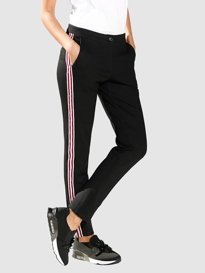 Pantalon à bandes reps contrastantes