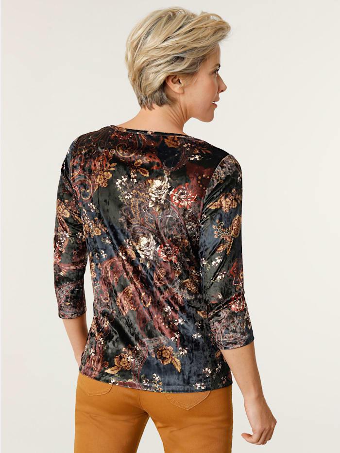 Shirt van fluweel