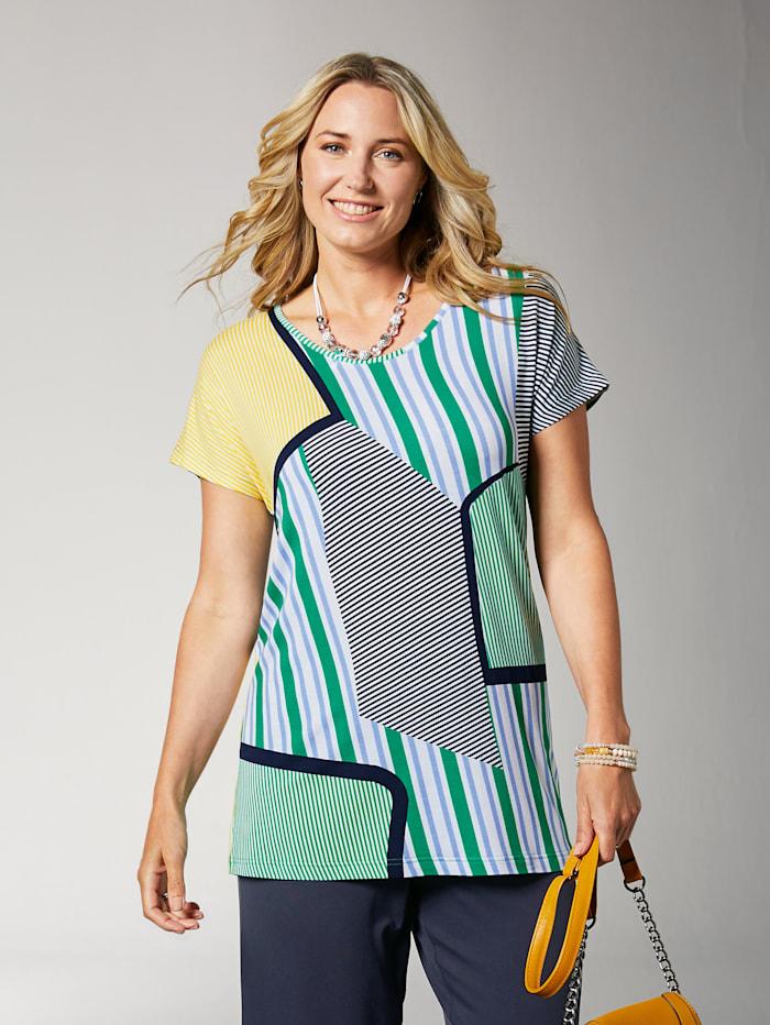 Shirt mit gepatchten Streifendrucken