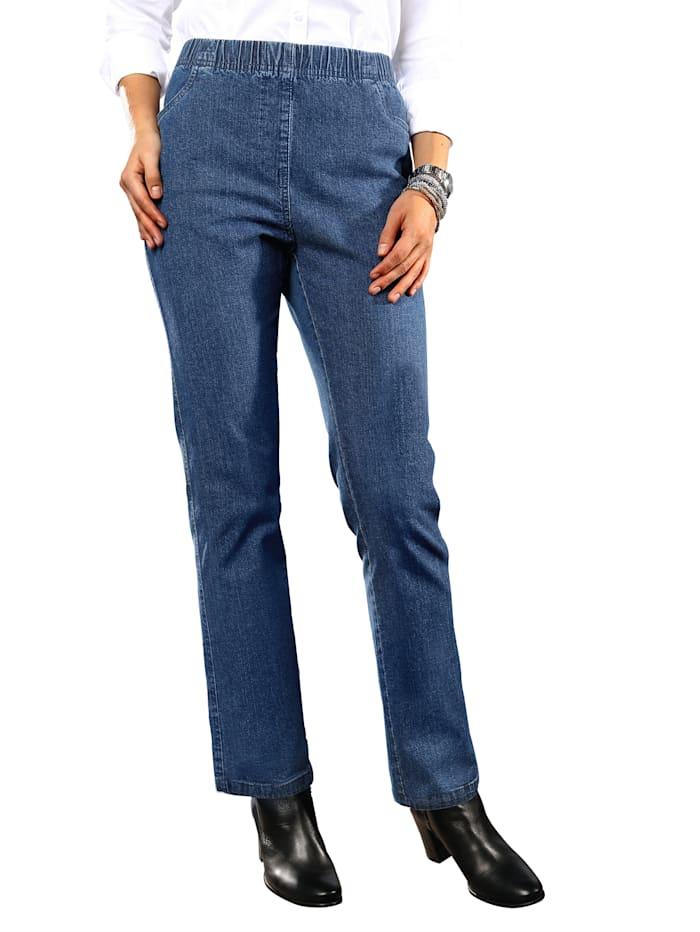 Paola Jeans met elastische band, Blauw