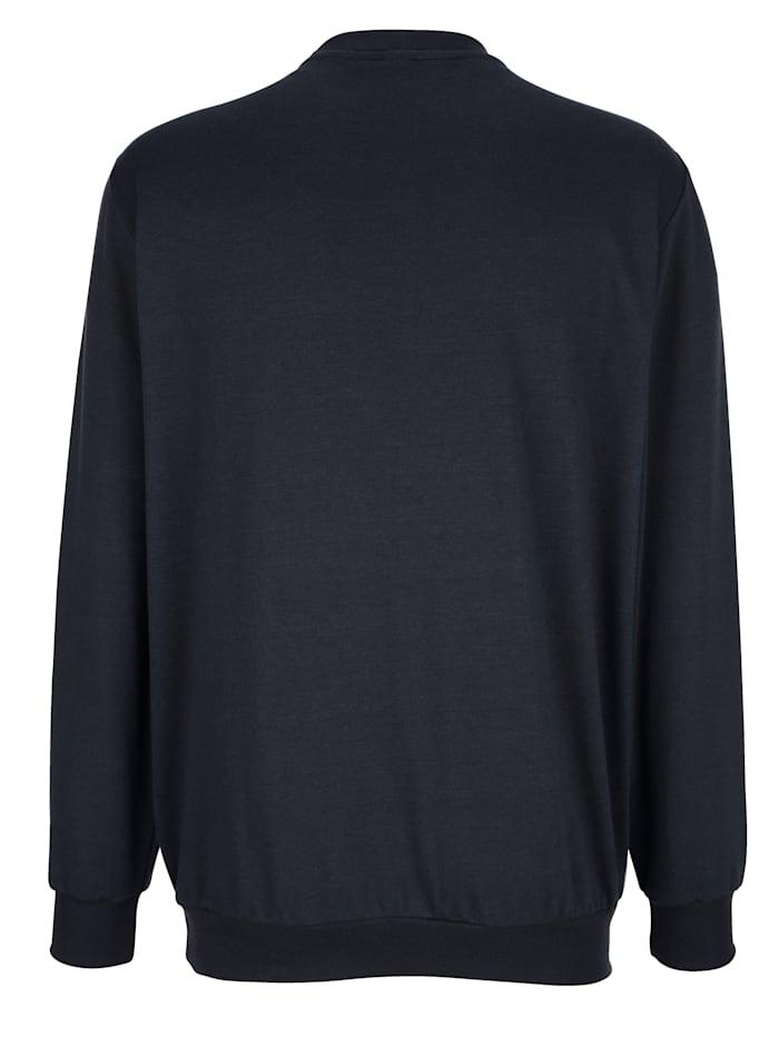 Sweatshirt met effen contrastinzetten