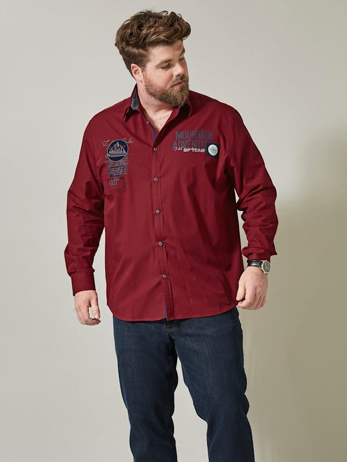 Men Plus Spezialschnitt Hemd Spezialschnitt, Rot