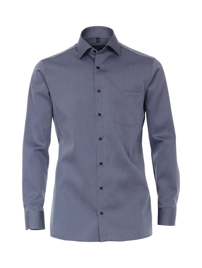 CASAMODA Hemd uni Comfort Fit, graues Mittelblau