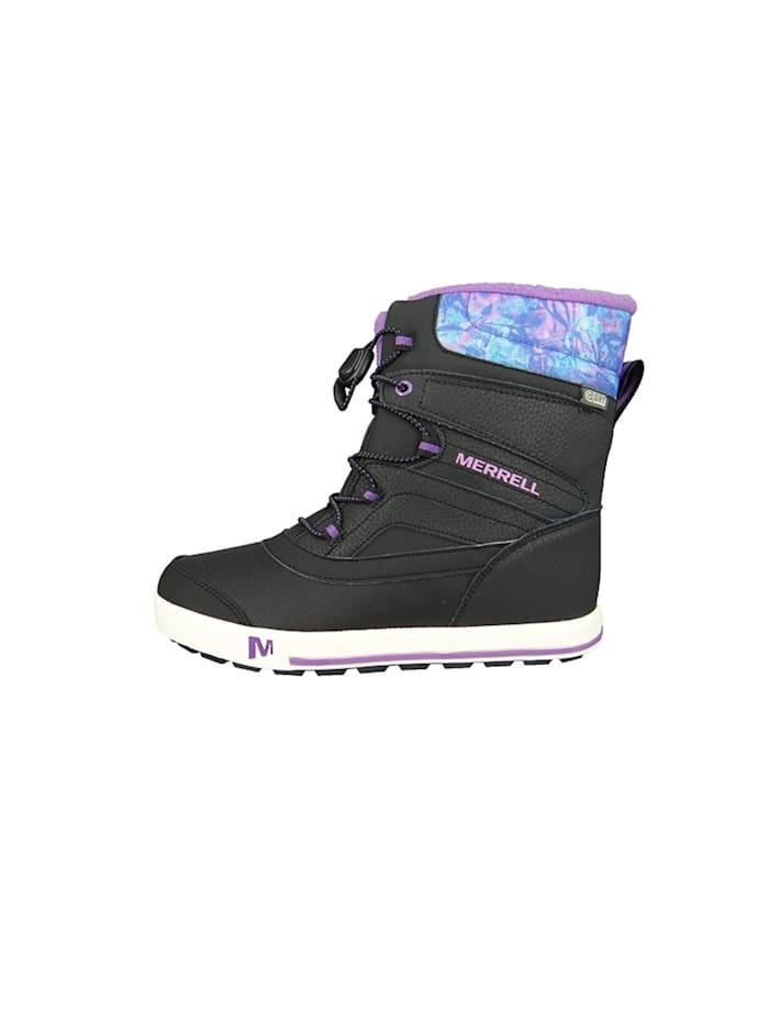 boots Kids Kinderstiefel Snow Bank 2.0 Waterproof Black Print Berry Schwarz MC56089