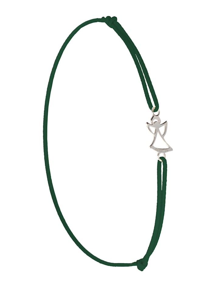 1001 Diamonds Engel Armband 925 Silber, grün
