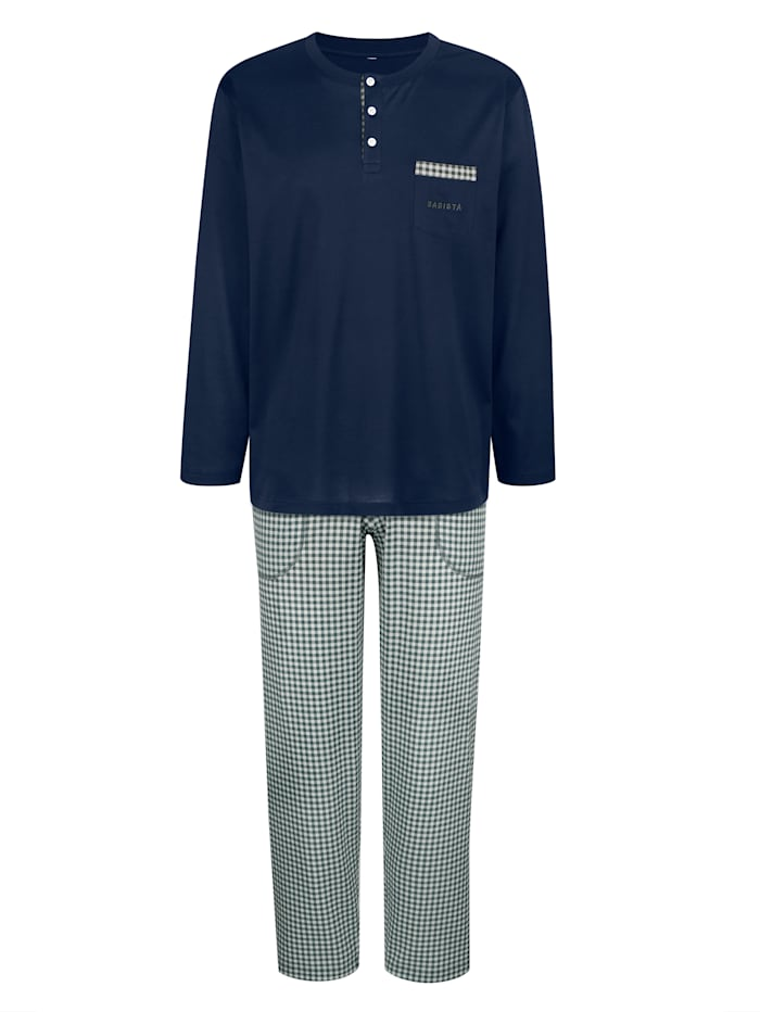 BABISTA Pyjama van gemerceriseerd katoen, Blauw