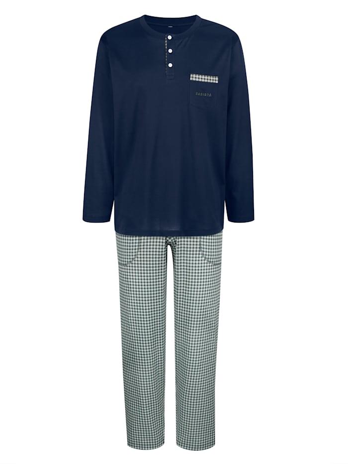 BABISTA Schlafanzug aus mercerisierter Baumwolle, Blau
