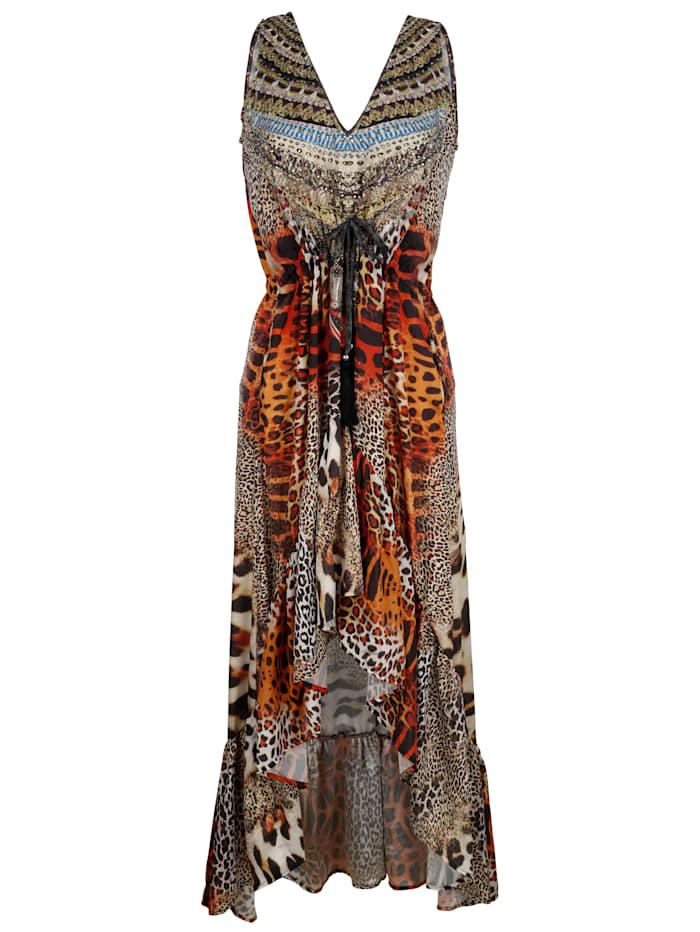 Maritim Beach dress with a bold animal print, Brown
