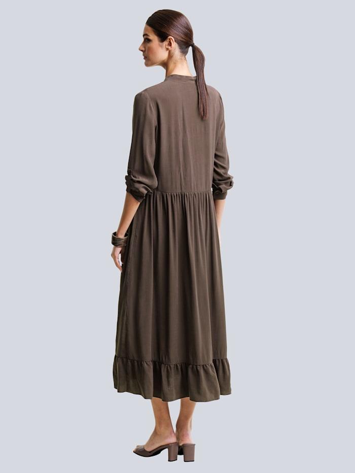 Kleid aus hochwertiger Materialmischung