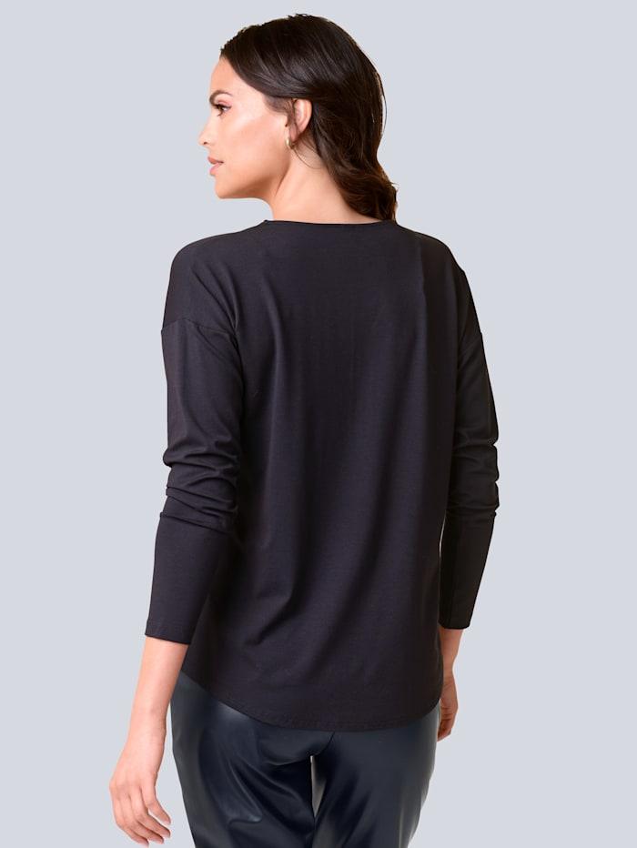 Shirt mit Reißverschluss am Ausschnitt