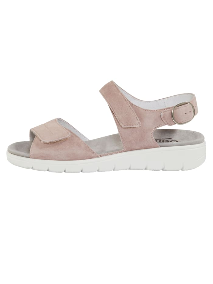 Sandaler med luftpolster i yttersålen