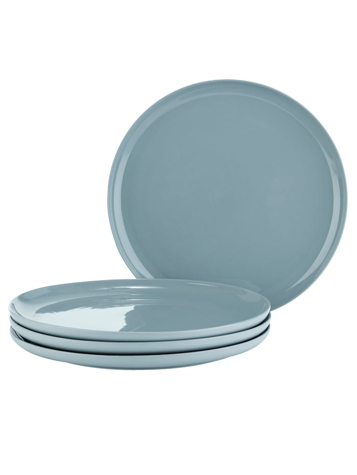 IMPRESSIONEN living Assiettes, 4 pièces, Bleu pigeon