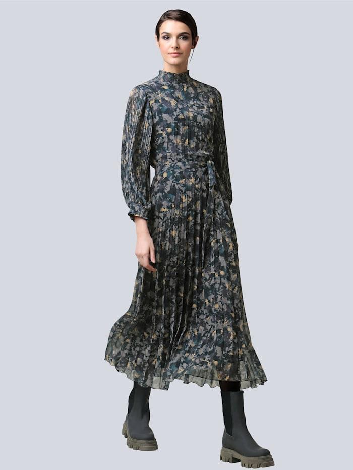 Alba Moda Kleid im exklusivem Dessin von Alba Moda, Grün/Schwarz/Grau