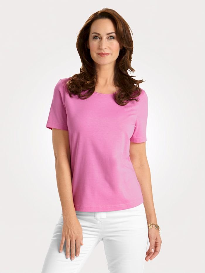 MONA Shirt met Pima-katoen, Roze