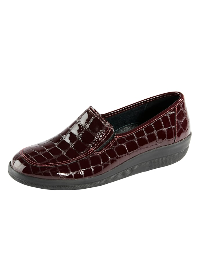 Naturläufer Loafers with elasticated side panels for ease and comfort, Bordeaux