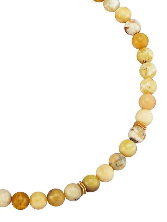 Opaalikaulakoru, Keltainen