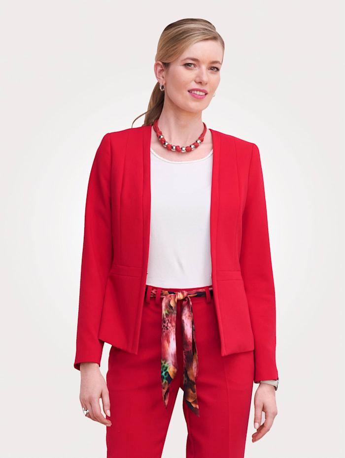 MONA Blazer mit Schößchen-Optik, Rot