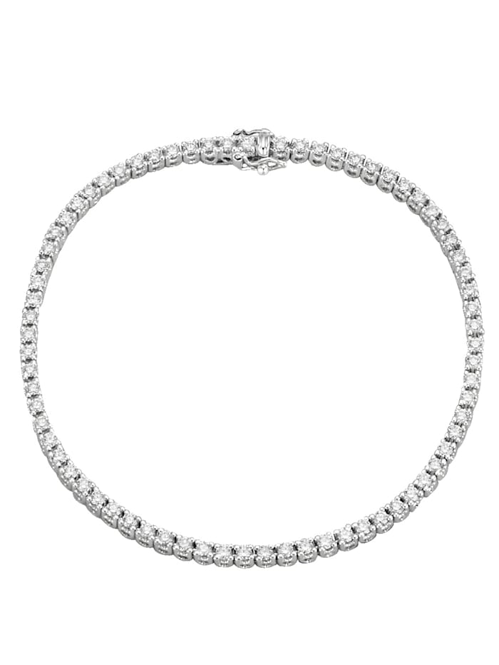 Diemer Diamant Valkokultainen timanttirannekoru, Valkoinen