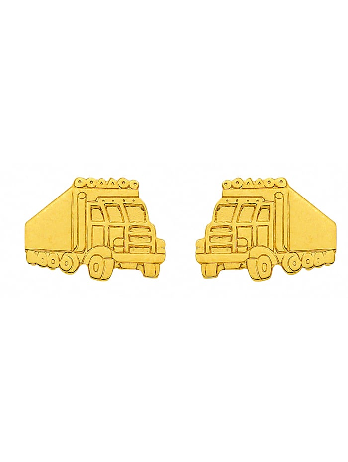1001 Diamonds Damen Goldschmuck 333 Gold Ohrringe / Ohrstecker Trucker, gold